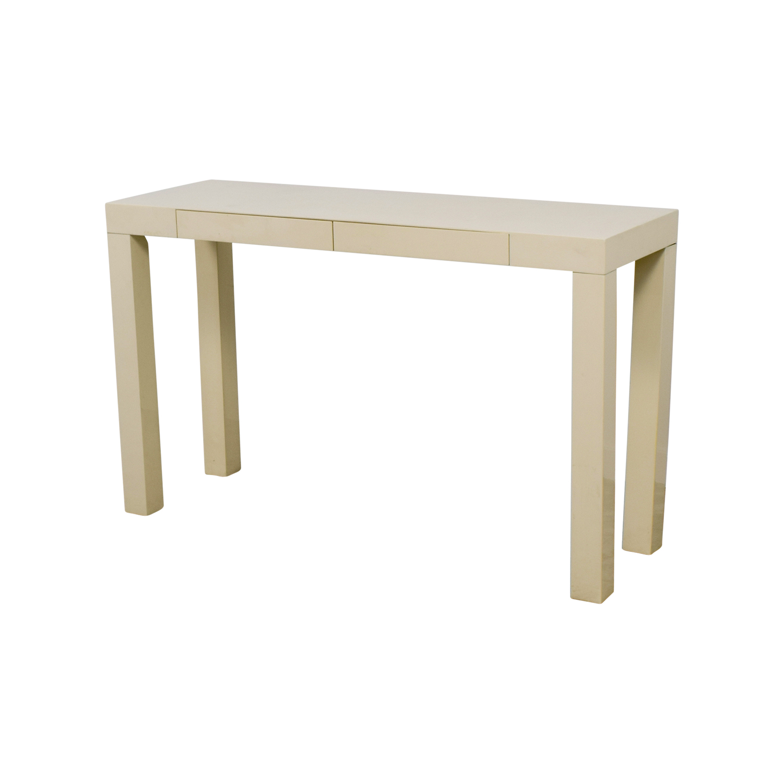 83 off west elm west elm white parsons console table tables west elm white parsons console table west elm geotapseo Choice Image