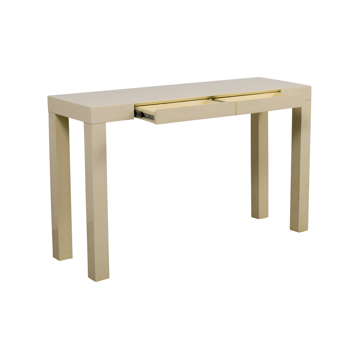 ... Buy West Elm White Parsons Console Table West Elm ...