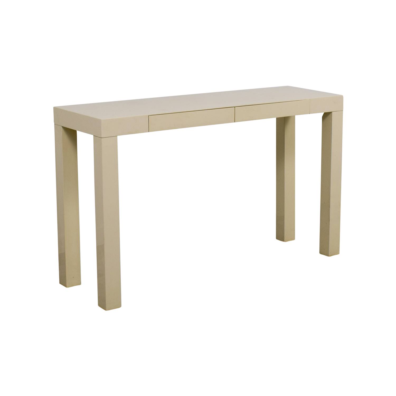 87 off west elm west elm white parsons console table tables - West elm parsons console ...