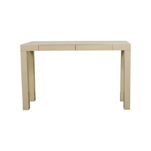 West Elm West Elm White Parsons Console Table on sale