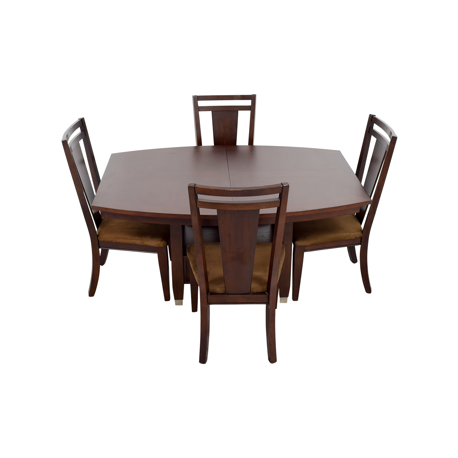 Wooden Dining Set ~ Off broyhill wood dining table set tables