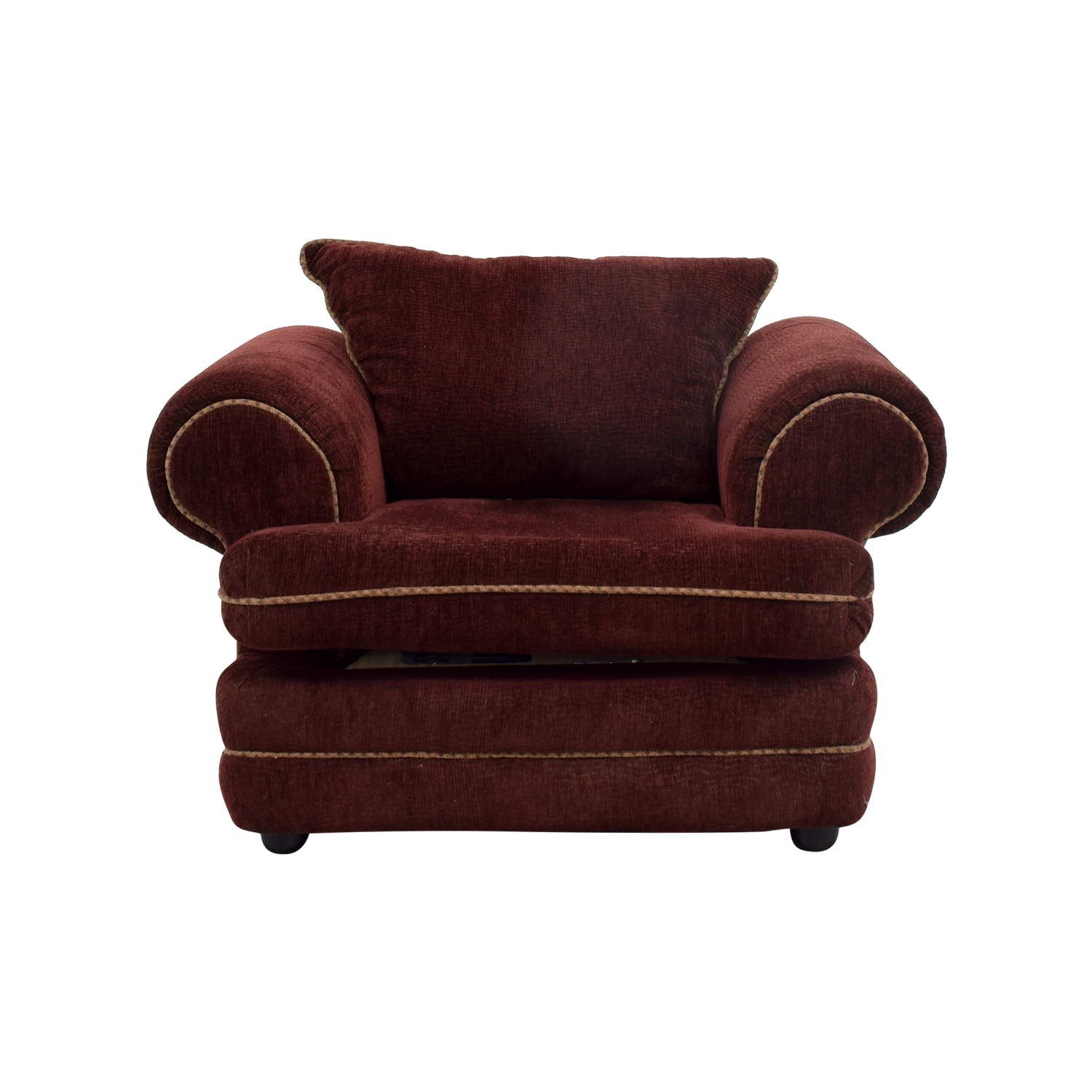 Good Sealy Sealy Burgundy Accent Chair Coupon ...