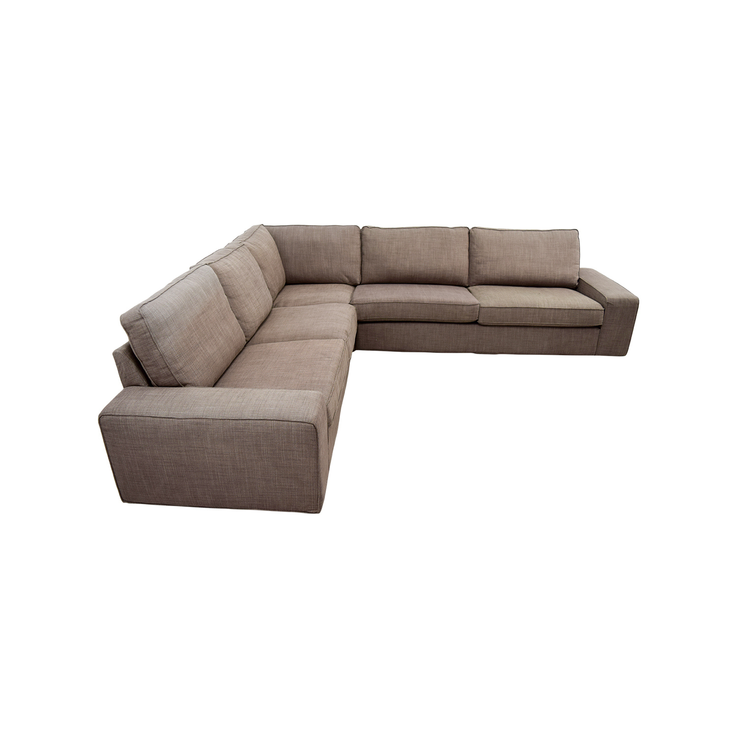 57 off ikea ikea kivik brown sectional sofas. Black Bedroom Furniture Sets. Home Design Ideas