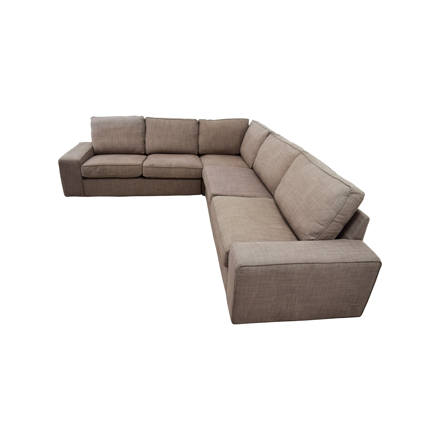 57 Off Ikea Ikea Kivik Brown Sectional Sofas