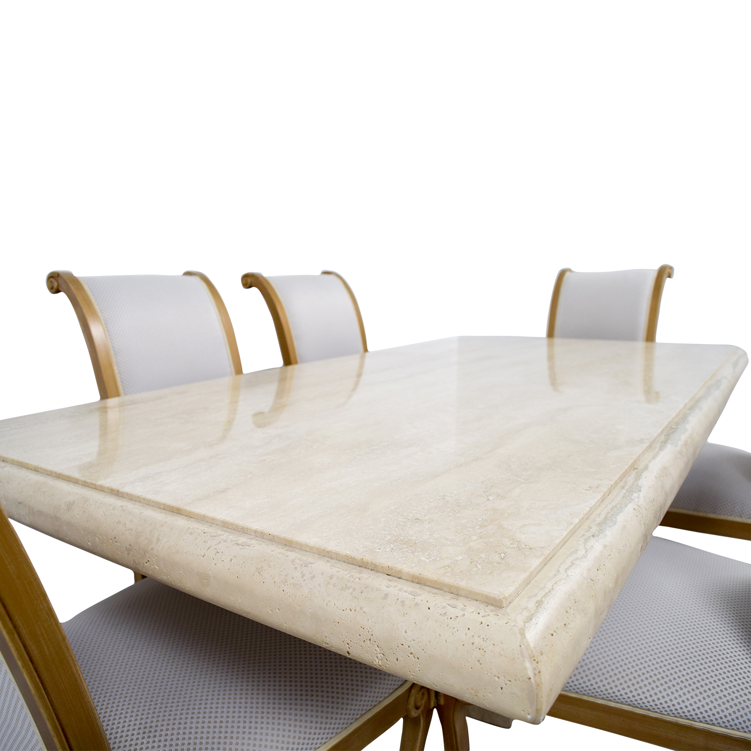 Second hand marble dining table gallery dining table ideas for Dining table and six chairs