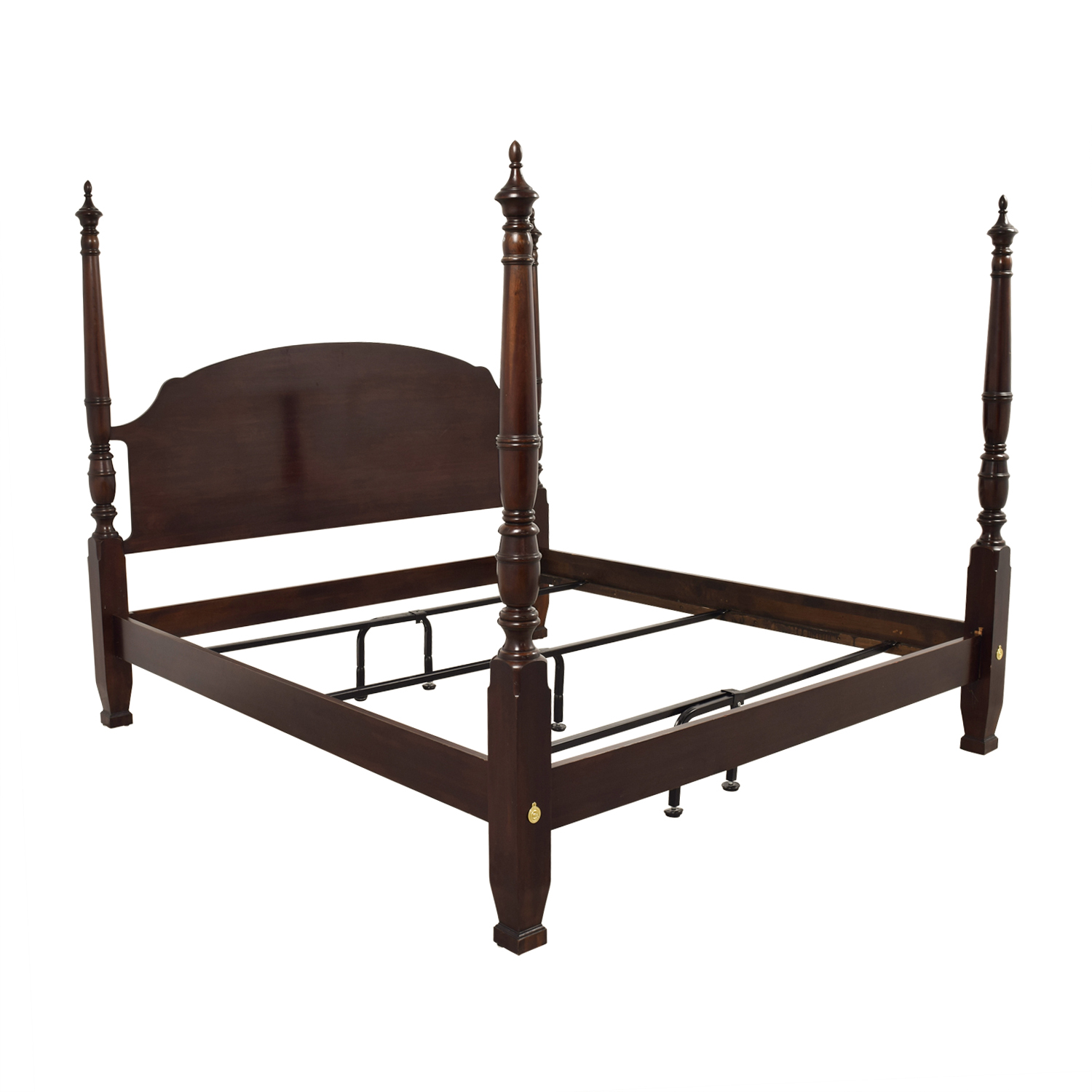 75 harden harden mahogany four poster king bed frame beds