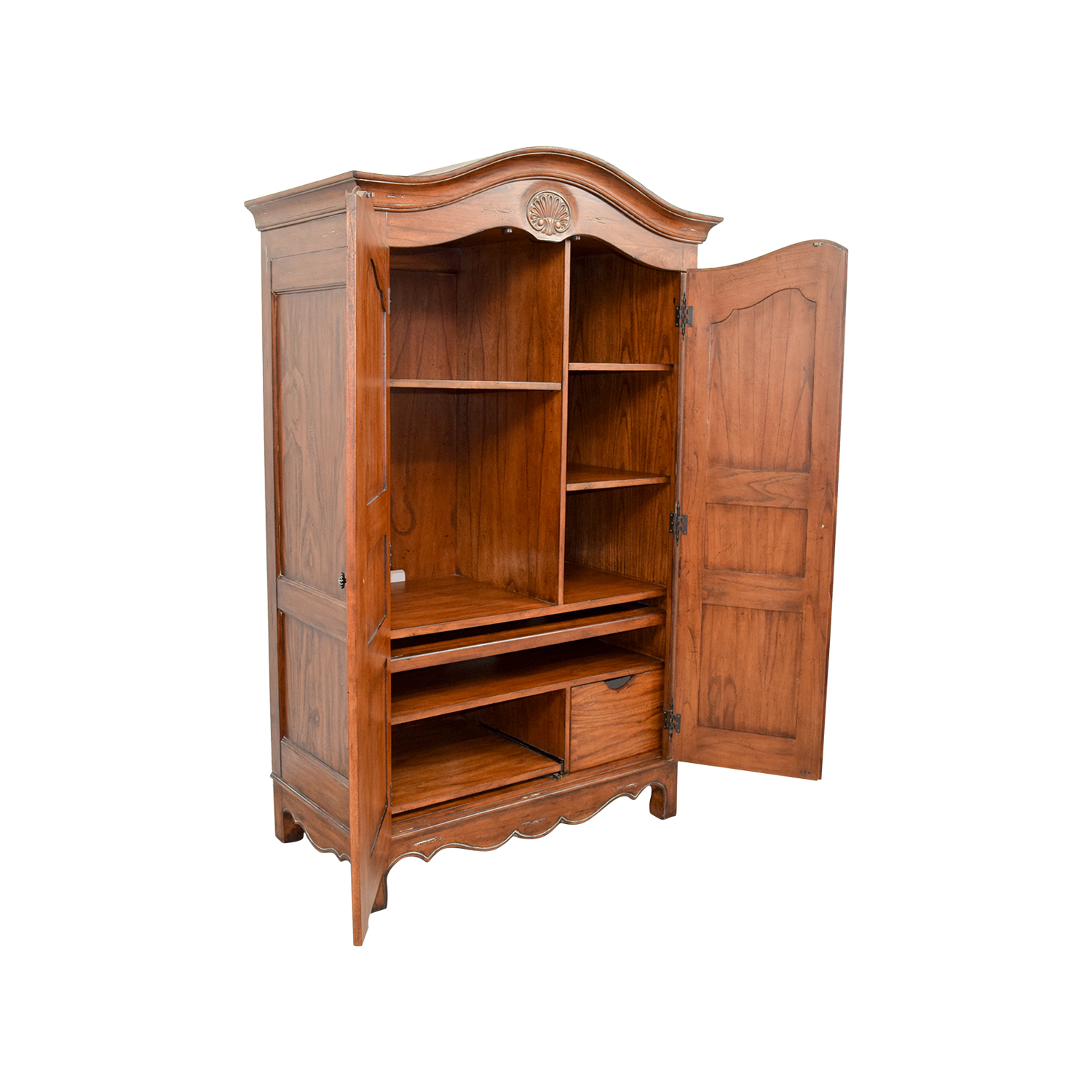... Wood Armoire With Interior Shelves / Wardrobes U0026 Armoires ...