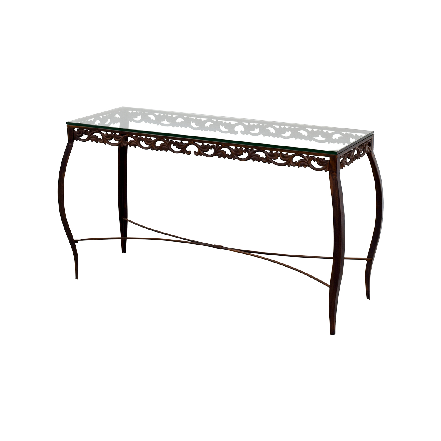 90% OFF - Pier 1 Imports Pier 1 Imports Glass Console Table / Tables