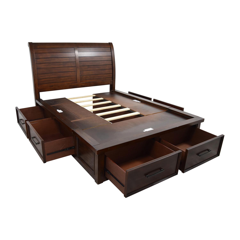 51 OFF Macys Macys Curved Headboard Queen Platform Bed with