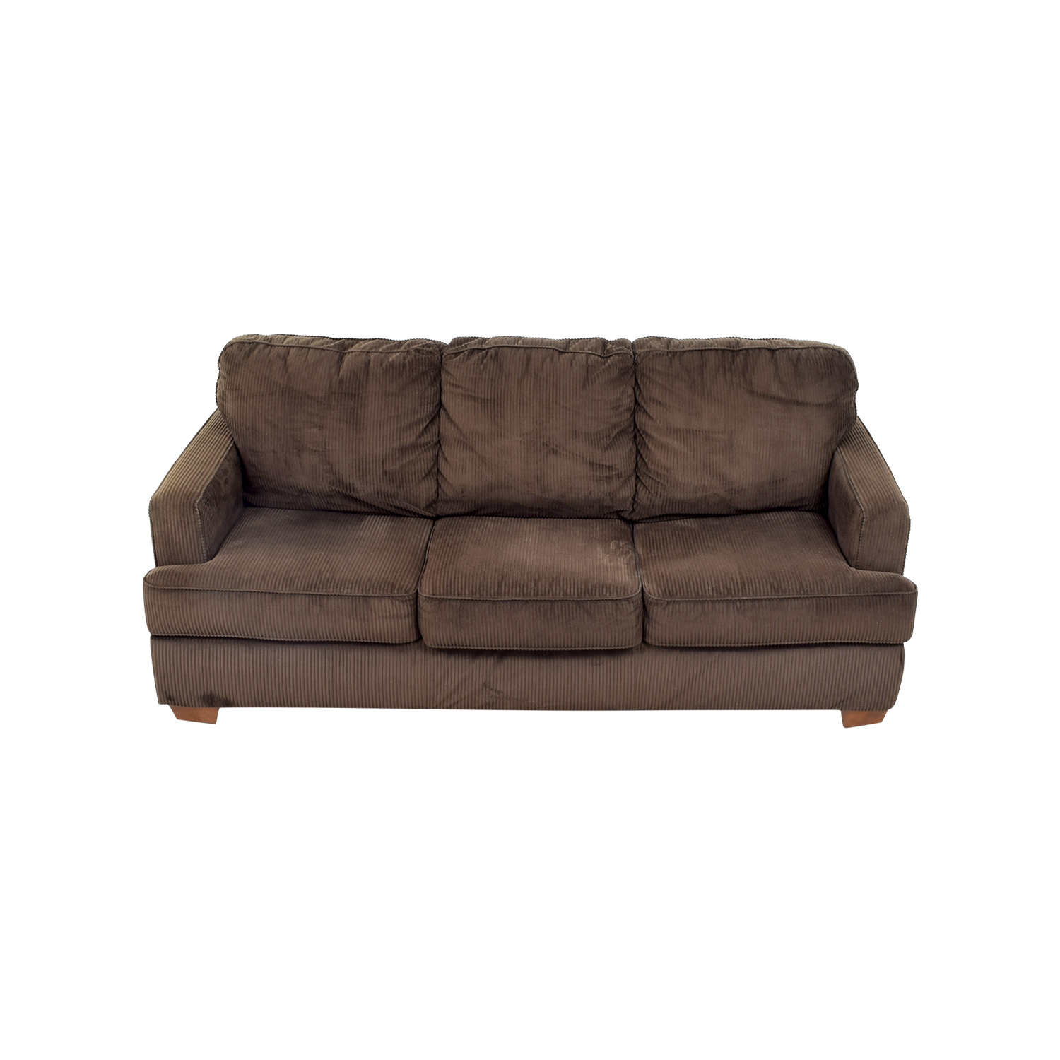 Atmore Chocolate Corduroy Three-Cushion Sofa / Classic Sofas
