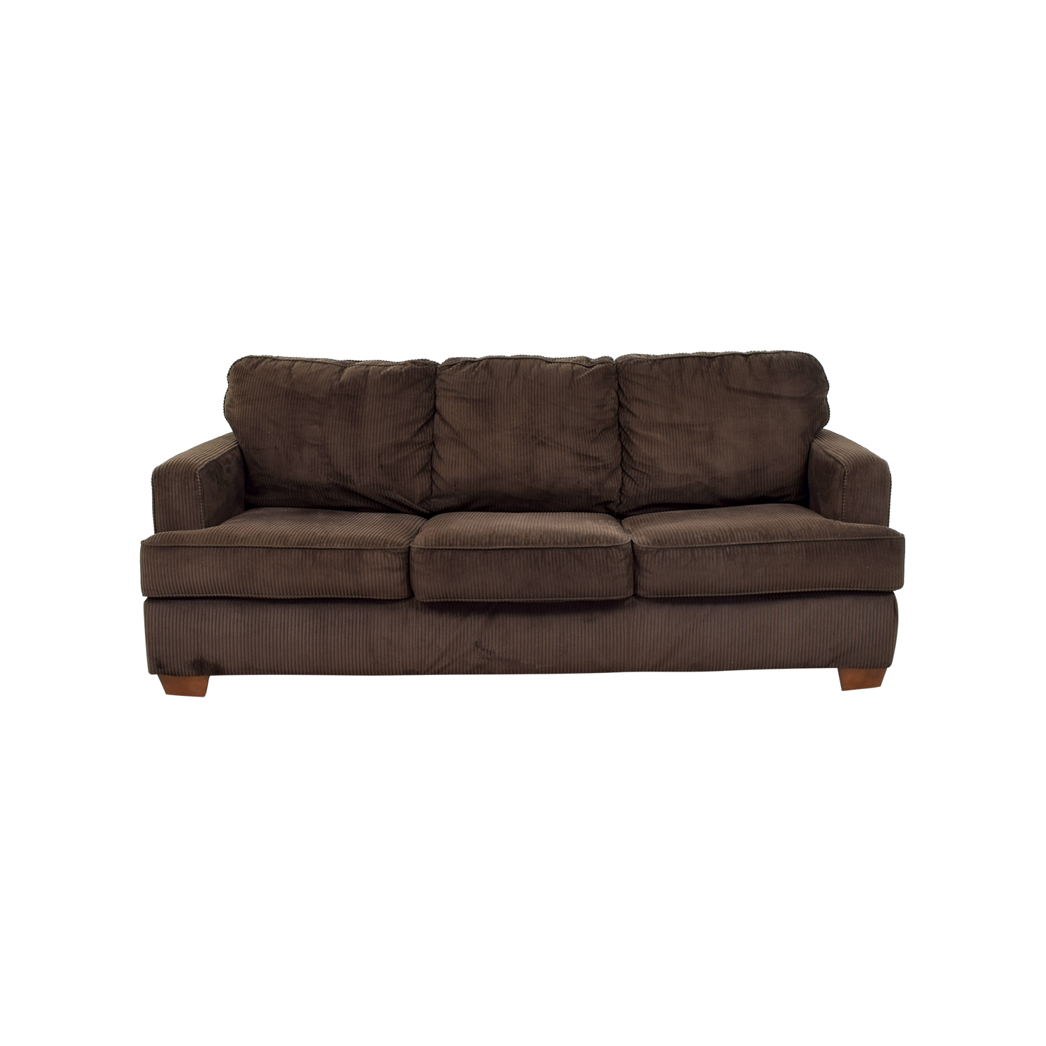 buy Atmore Chocolate Corduroy Three-Cushion Sofa Atmore Classic Sofas