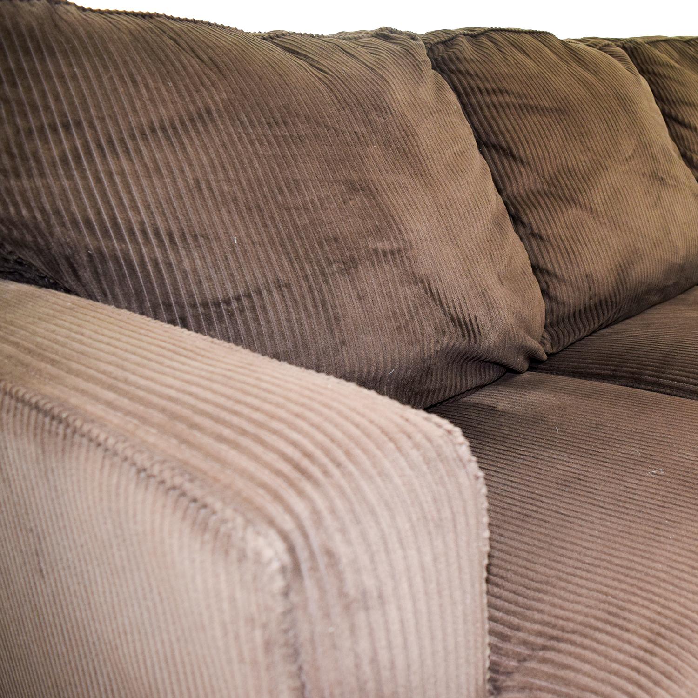 Corduroy Three Cushion Sofa