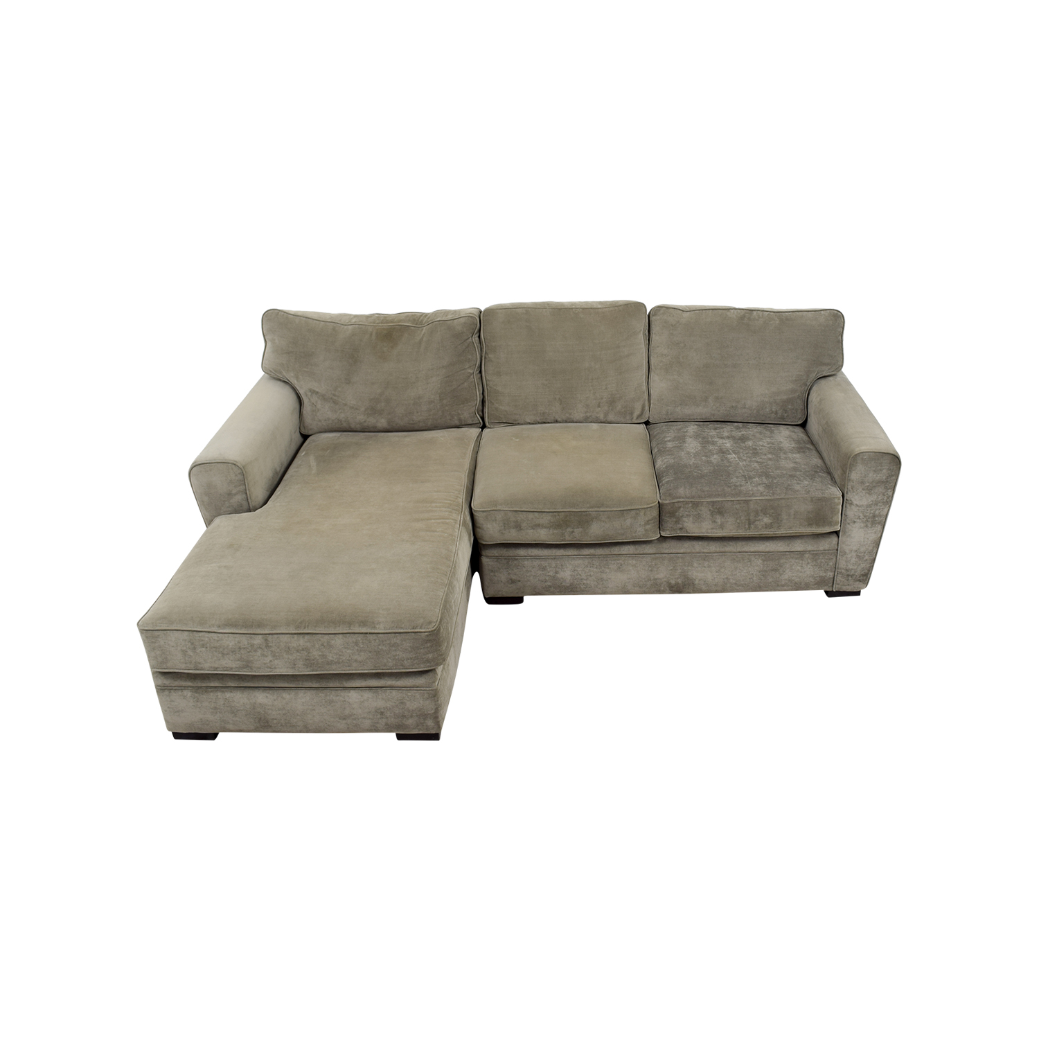 Crate and Barrel Crate and Barrel Gray Velvet Chaise Sectional price