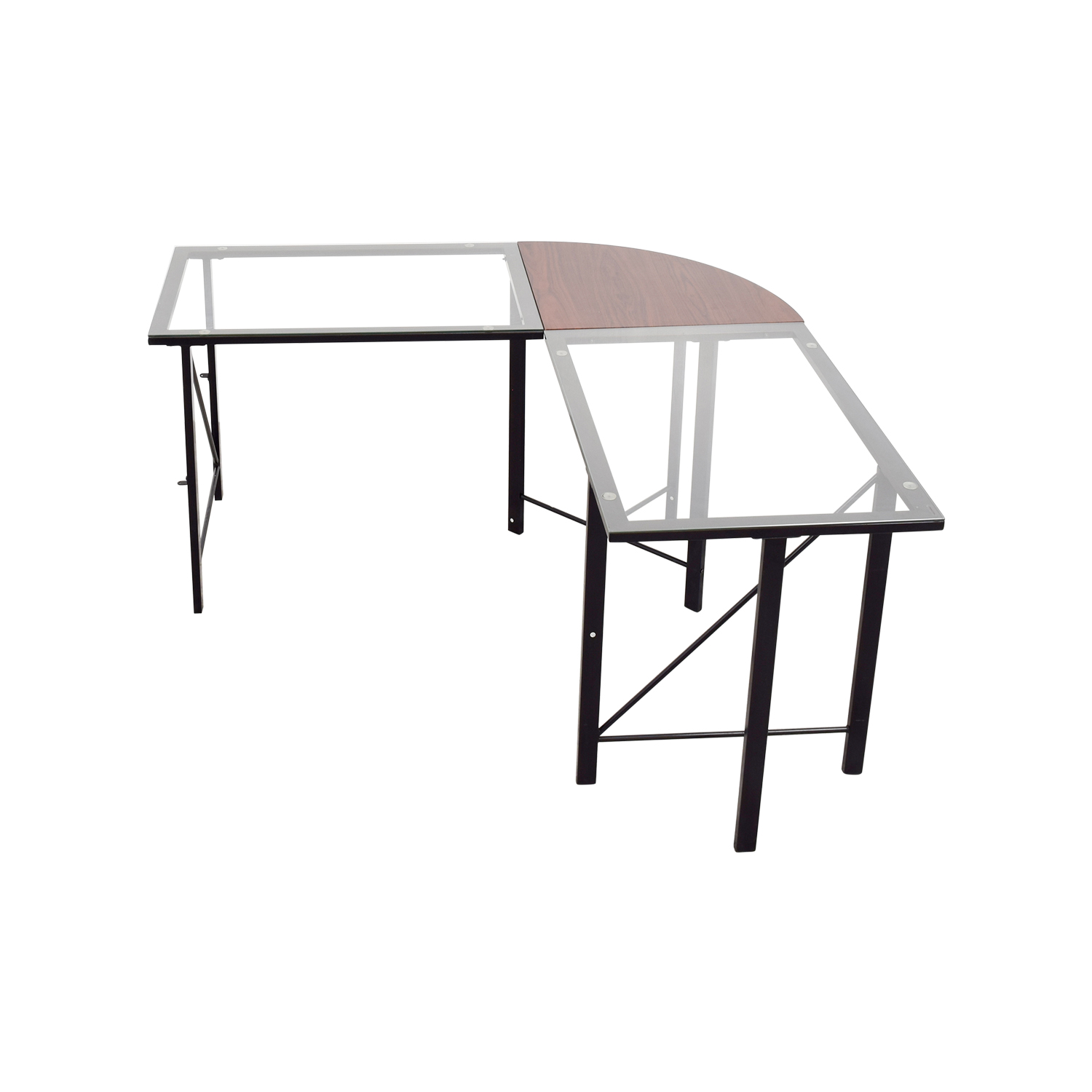 Altra Furniture Aden Corner Glass Computer Desk