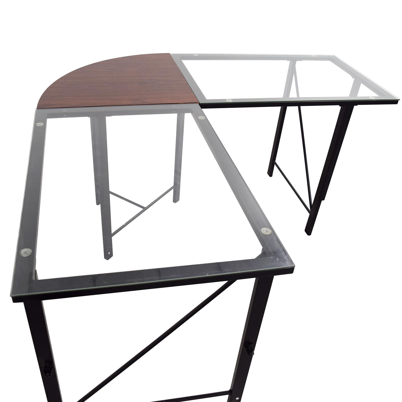 68% OFF Altra Furniture Altra Furniture Aden Corner Glass
