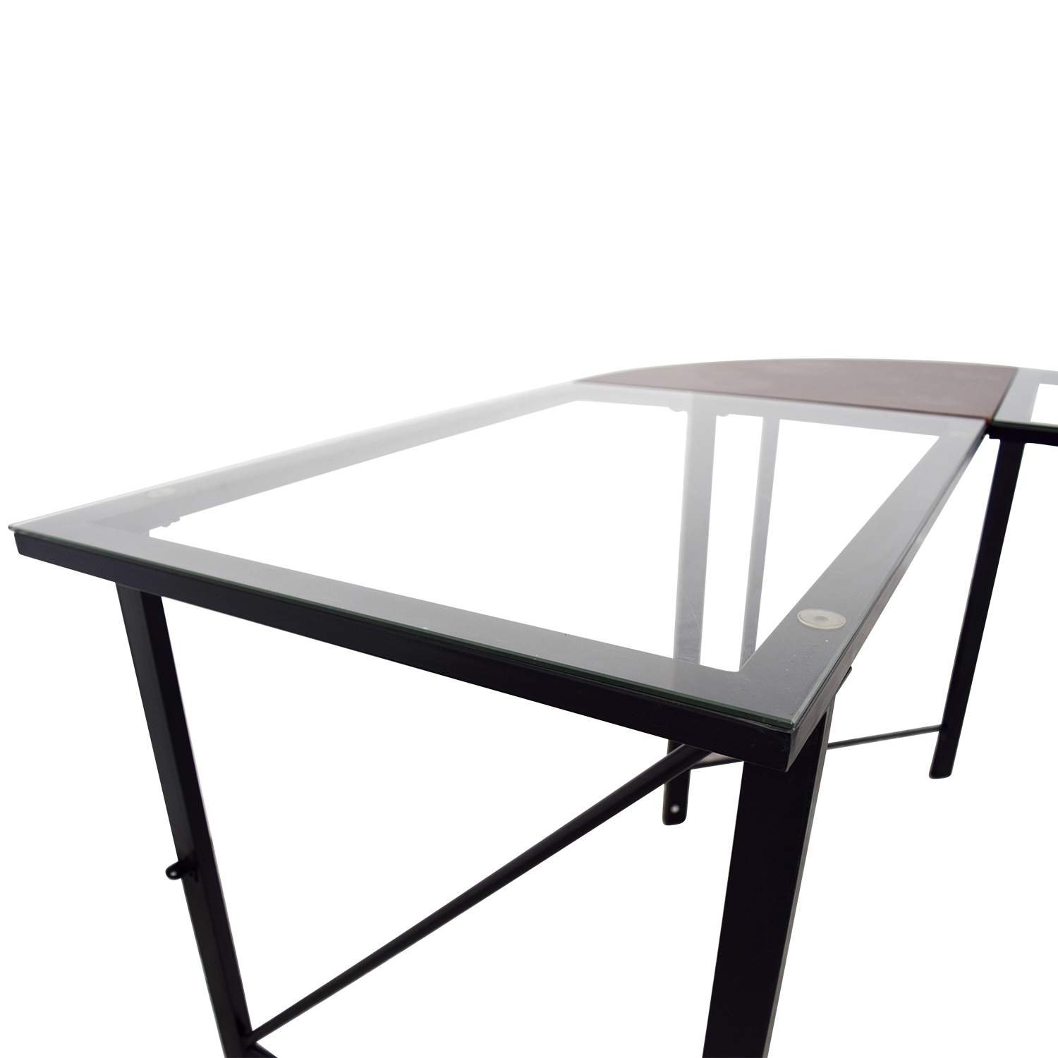 68% OFF Altra Furniture Altra Furniture Aden Corner Glass