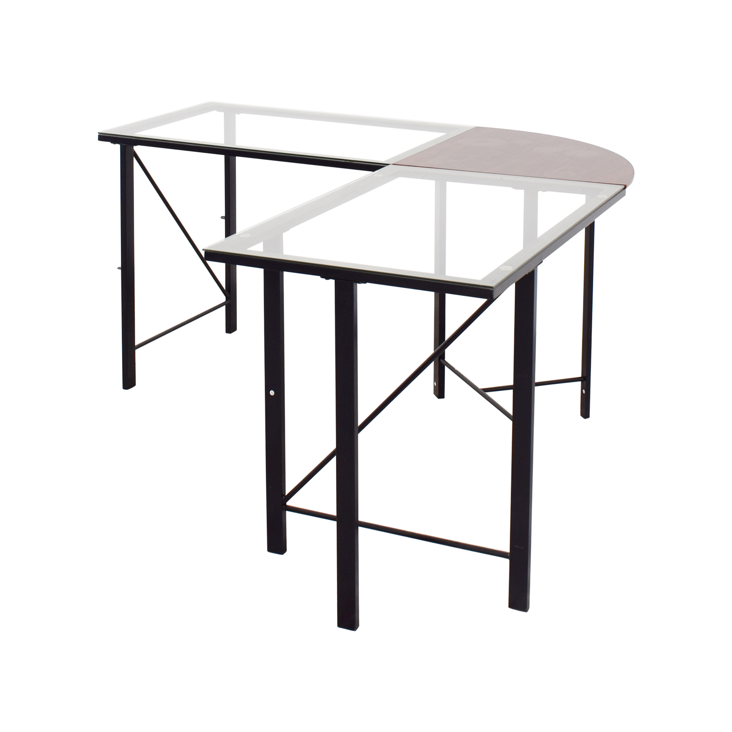 ... Altra Furniture Aden Corner Glass Computer Desk Altra Furniture ...