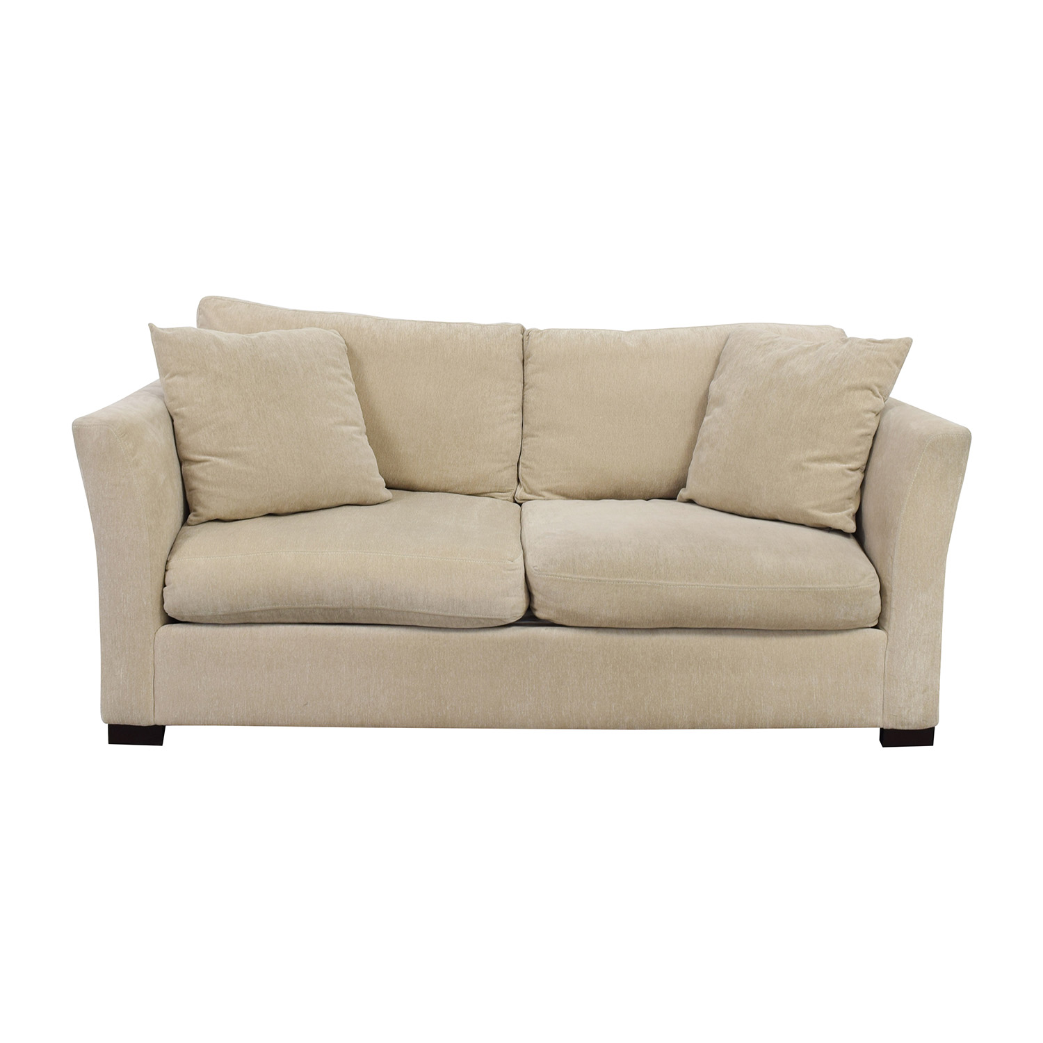 White Two Cushion Fabric Couch