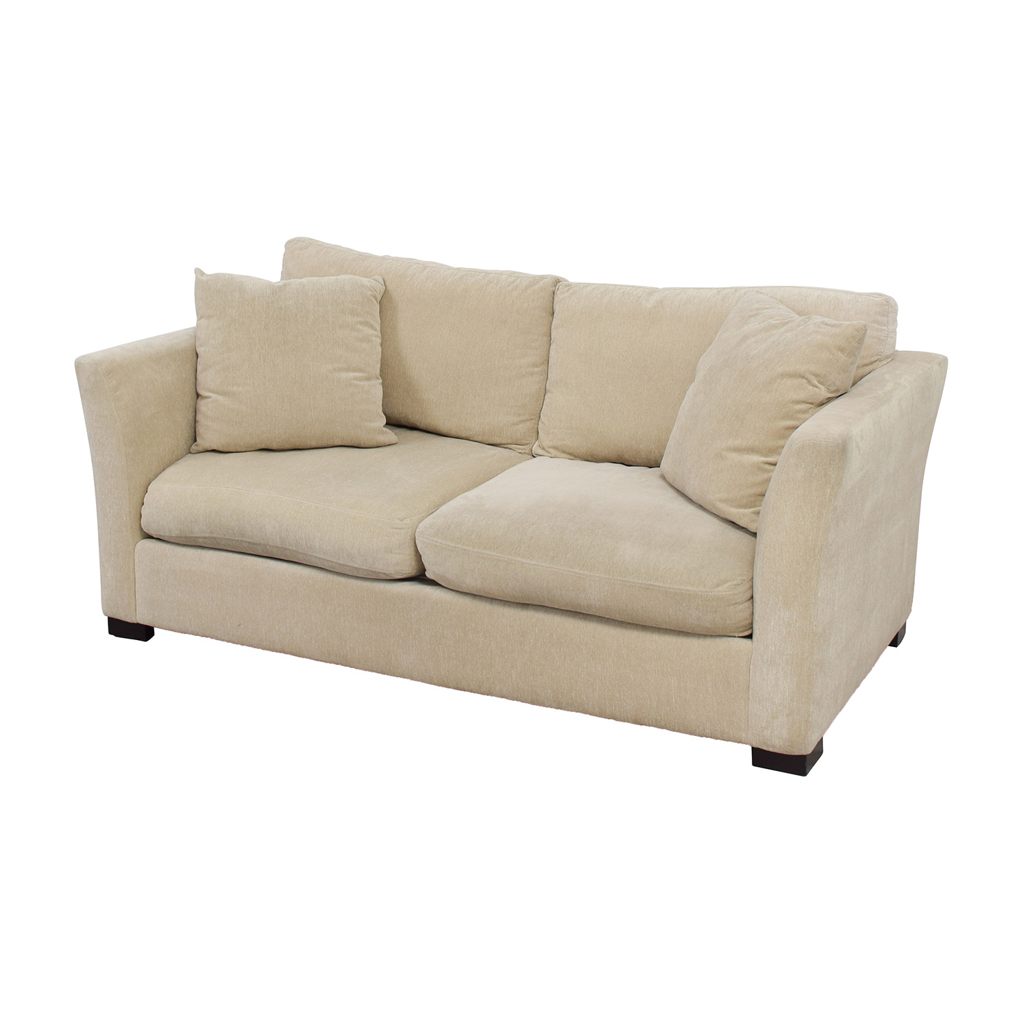 90 Off Macy S Macy S White Two Cushion Fabric Couch Sofas