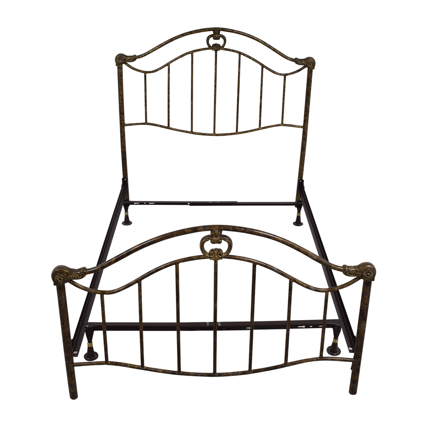 Full Bronze Metal Bed Frame for sale