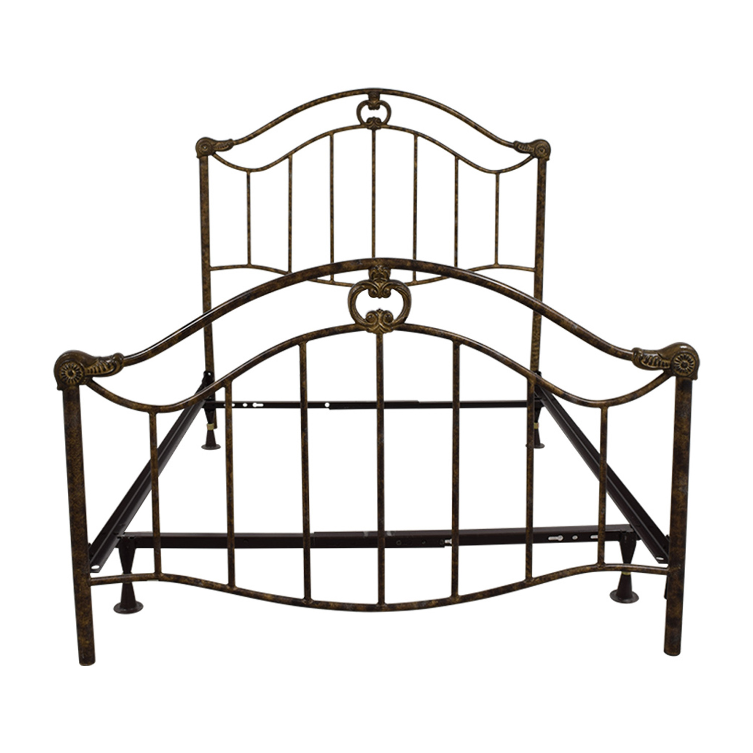 Full Bronze Metal Bed Frame on sale
