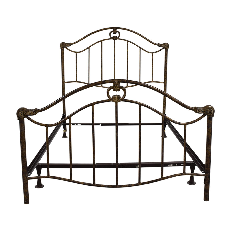 70 Off Full Bronze Metal Bed Frame Beds