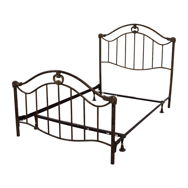 70 off full bronze metal bed frame beds. Black Bedroom Furniture Sets. Home Design Ideas