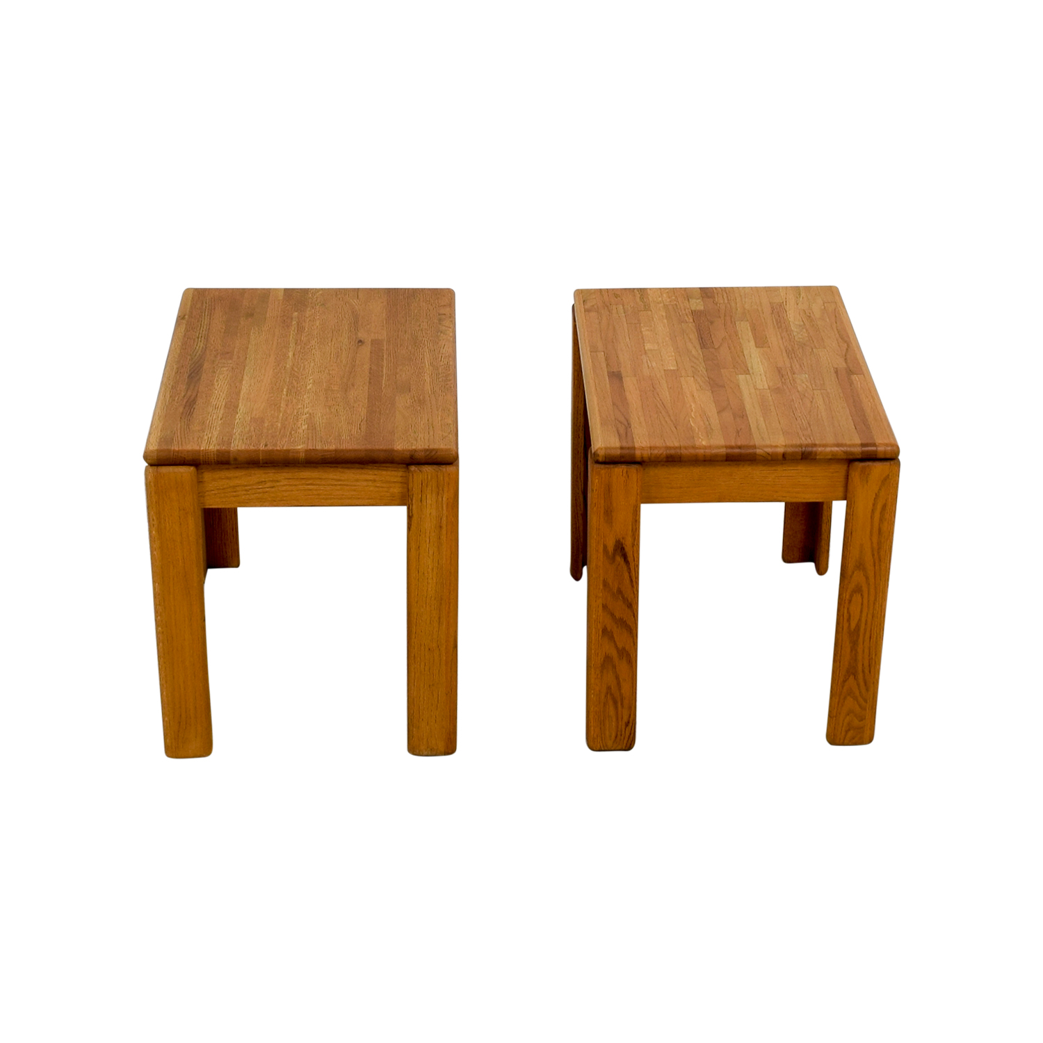 Butcher Block End Tables second hand