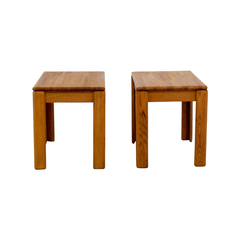 Butcher Block End Tables / End Tables