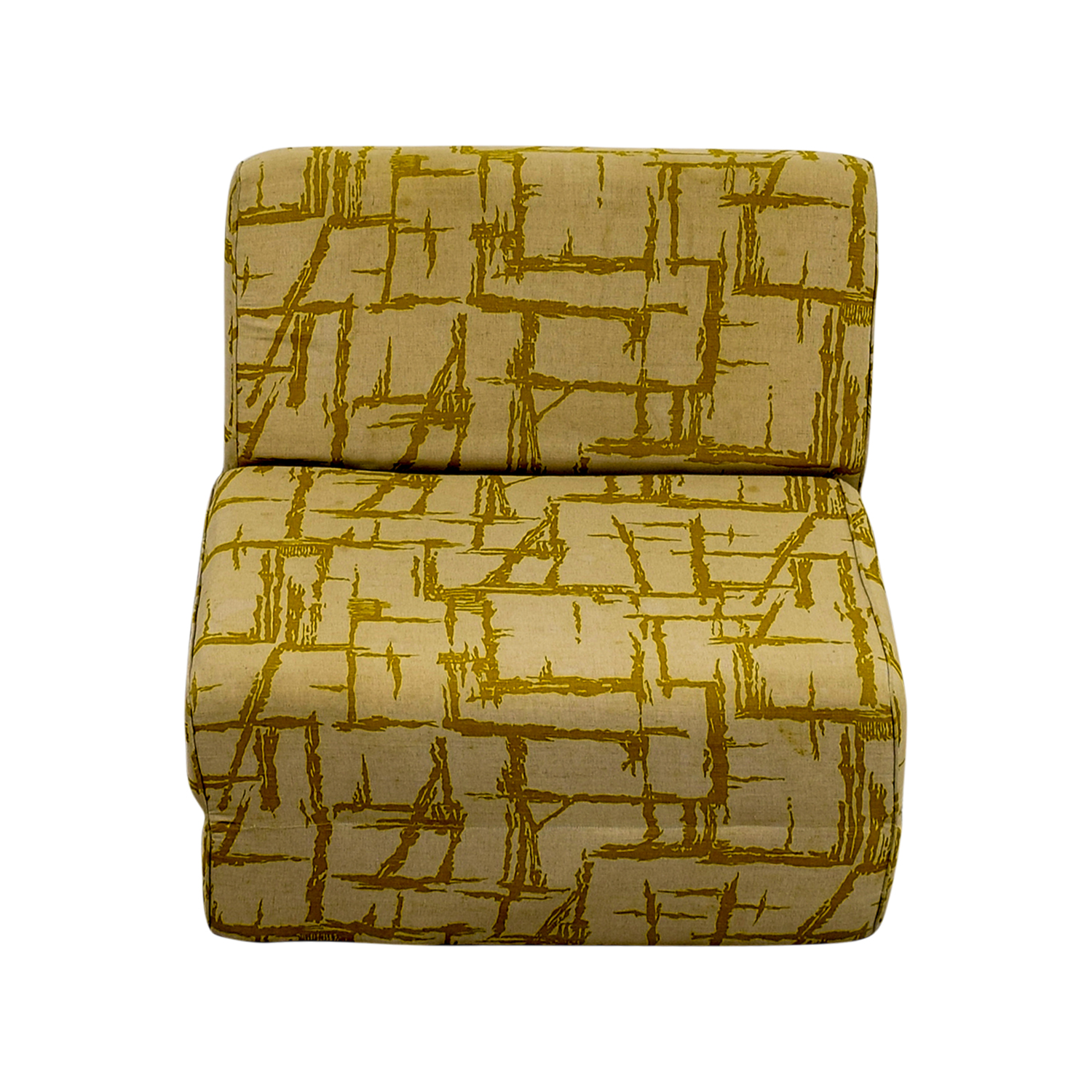 42% OFF Yellow Print Foldout Chair Chairs