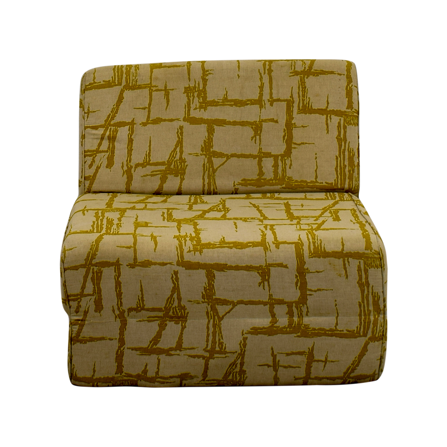 Yellow Print Foldout Chair