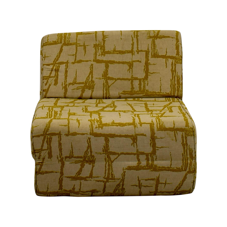 Yellow Print Foldout Chair