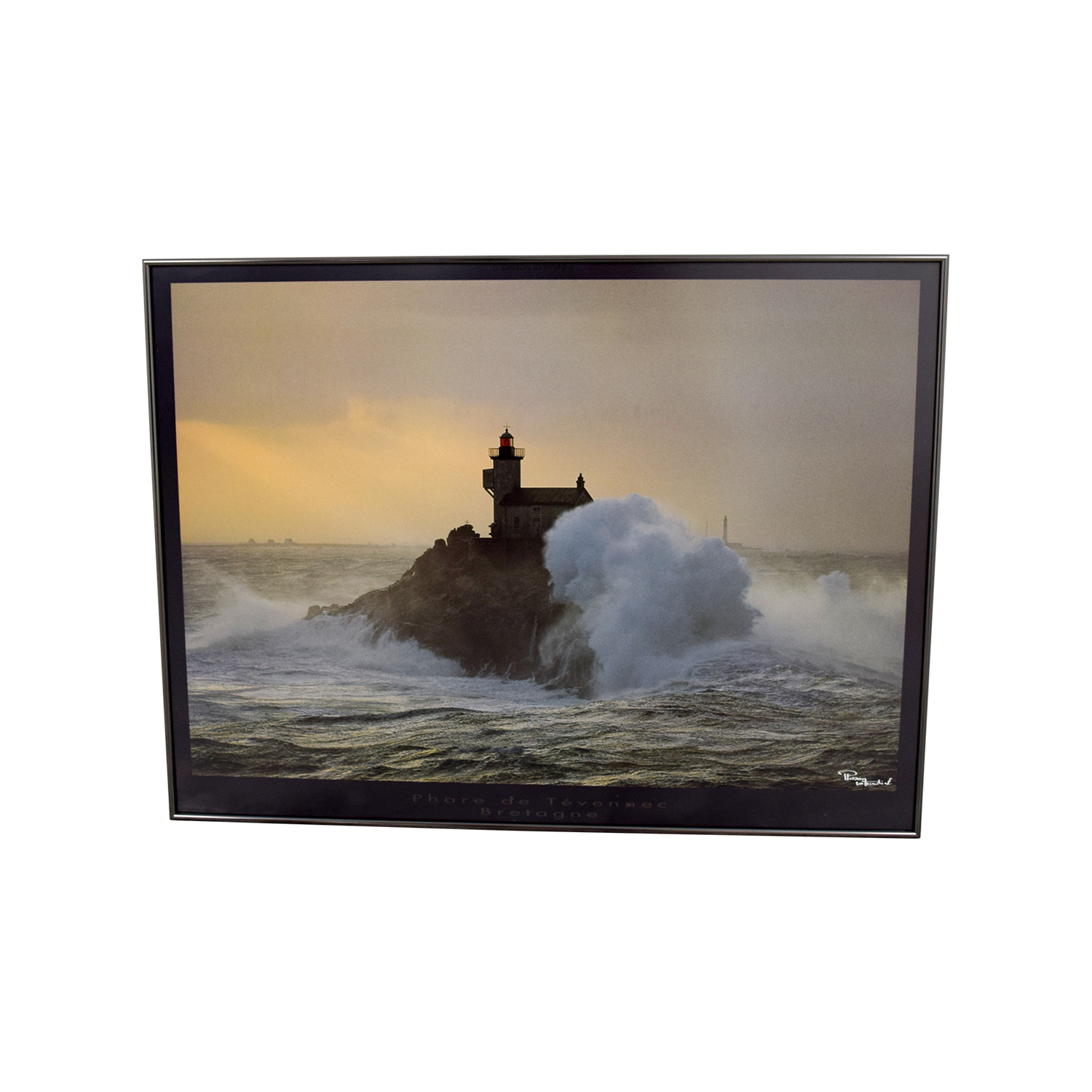 shop Lighthouse In Storm Framed Painting
