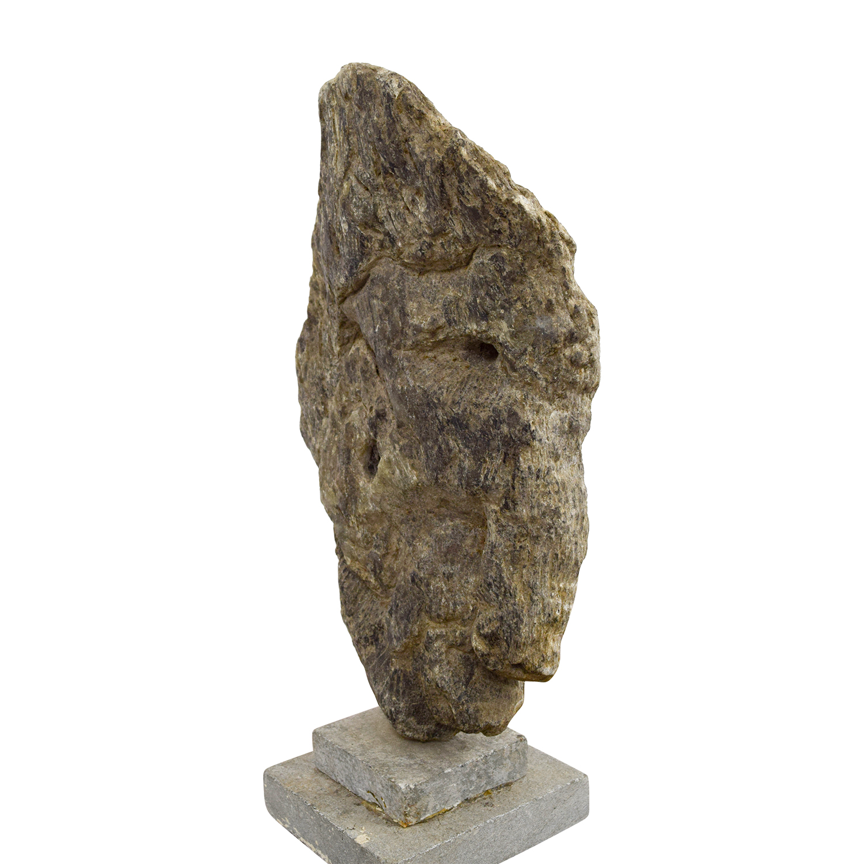 Decorative Stone Accent : Off stone sculpture decor