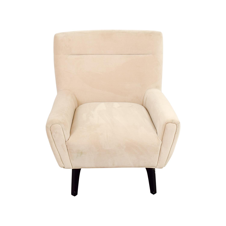 ... Shop Abbyson Malibu Cream Microsuede Armchair Abbyson Accent Chairs ...