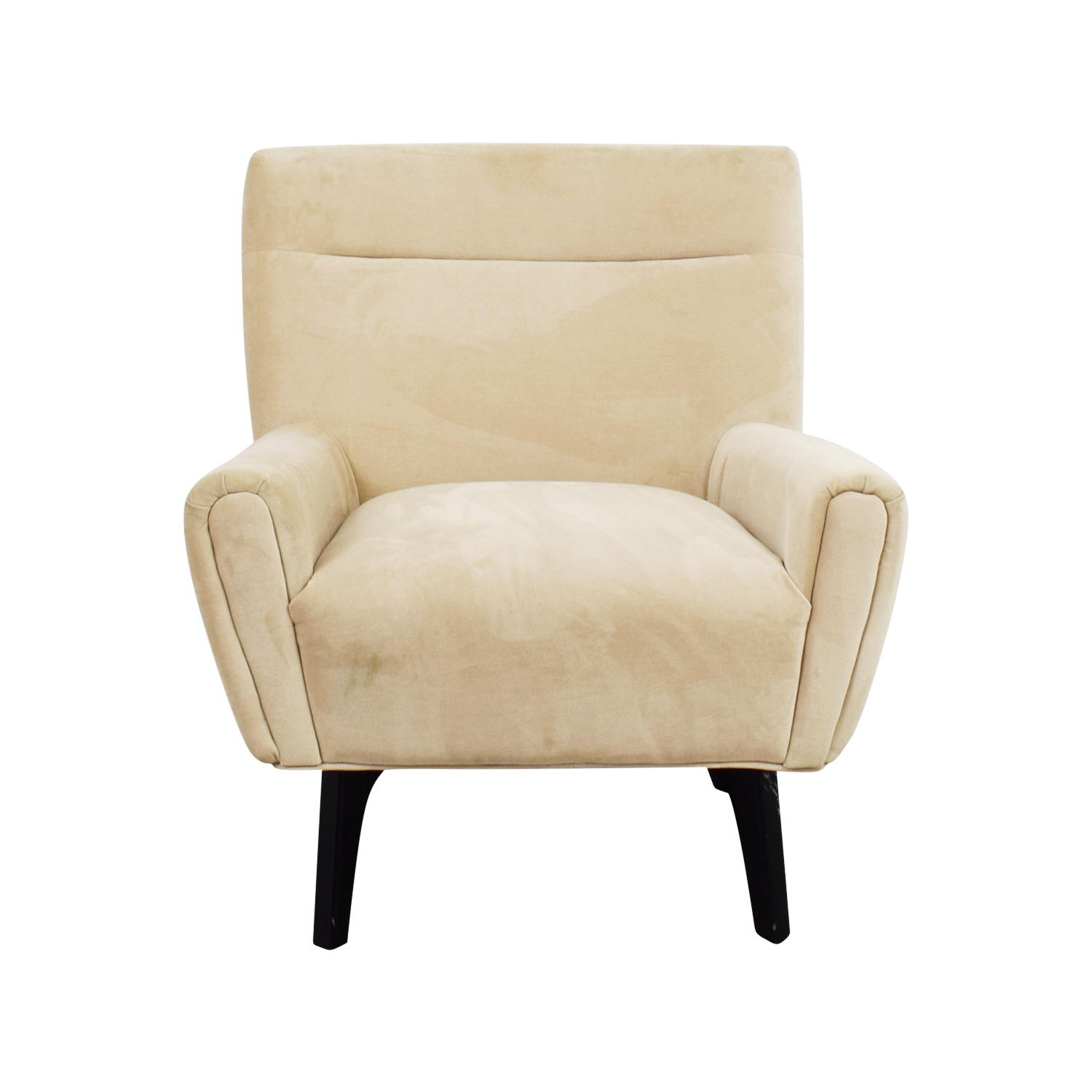 72 off target target tufted beige side armchair chairs for Cream armchair