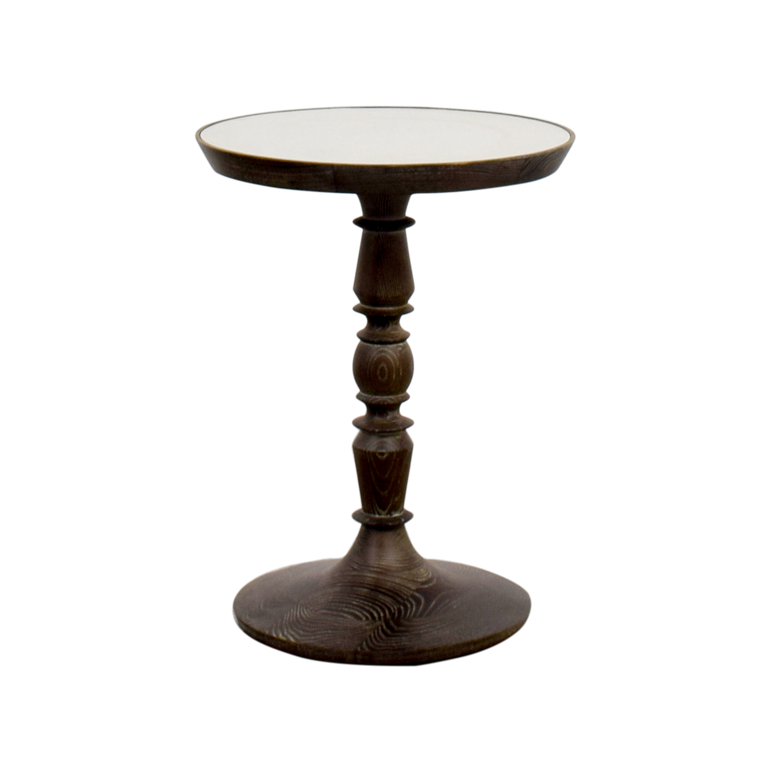 buy Pottery Barn Pottery Barn Mirrored Round End Table online
