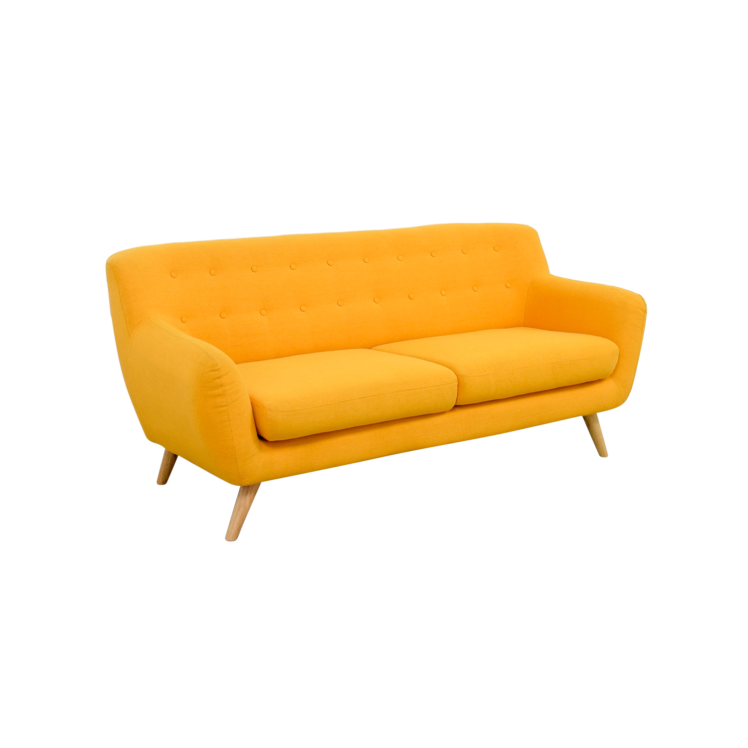 42 Off Mustard Yellow Sofa Sofas