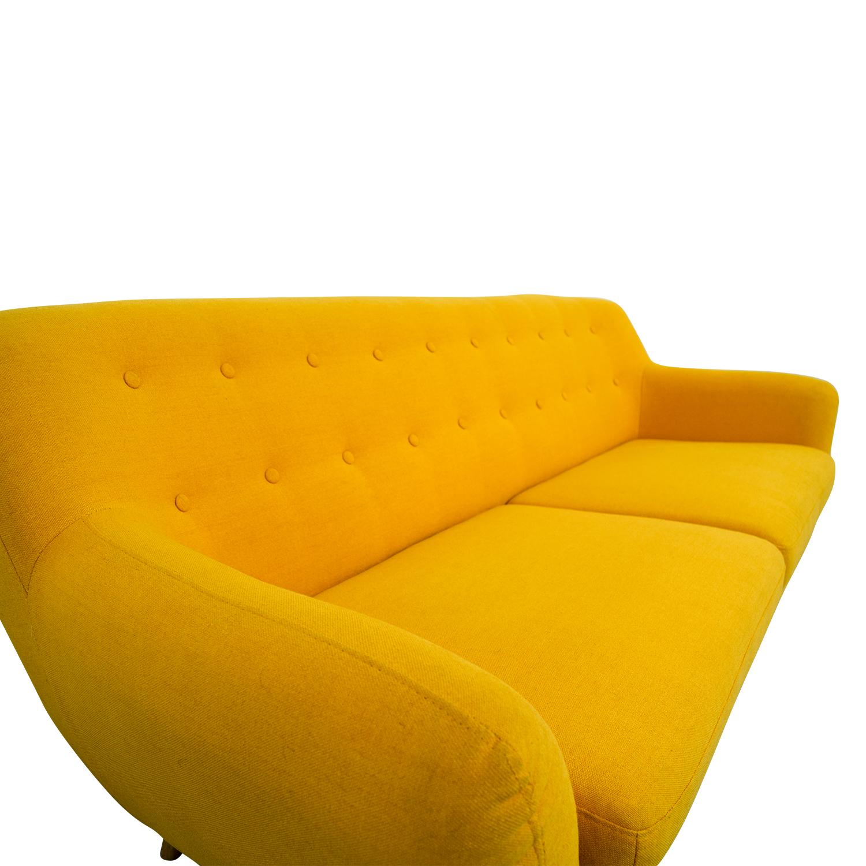 42 Off Mustard Yellow Sofa Sofas