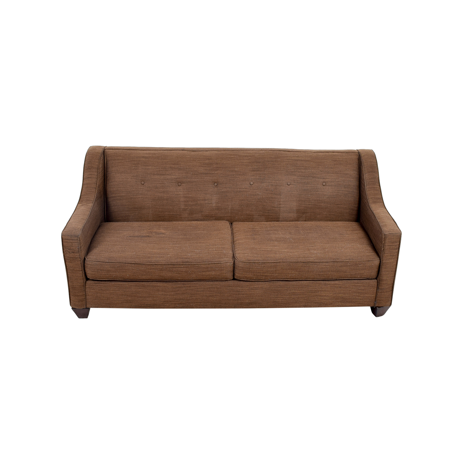 shop Two-Cushion Brown Slightly Tufted Couch online