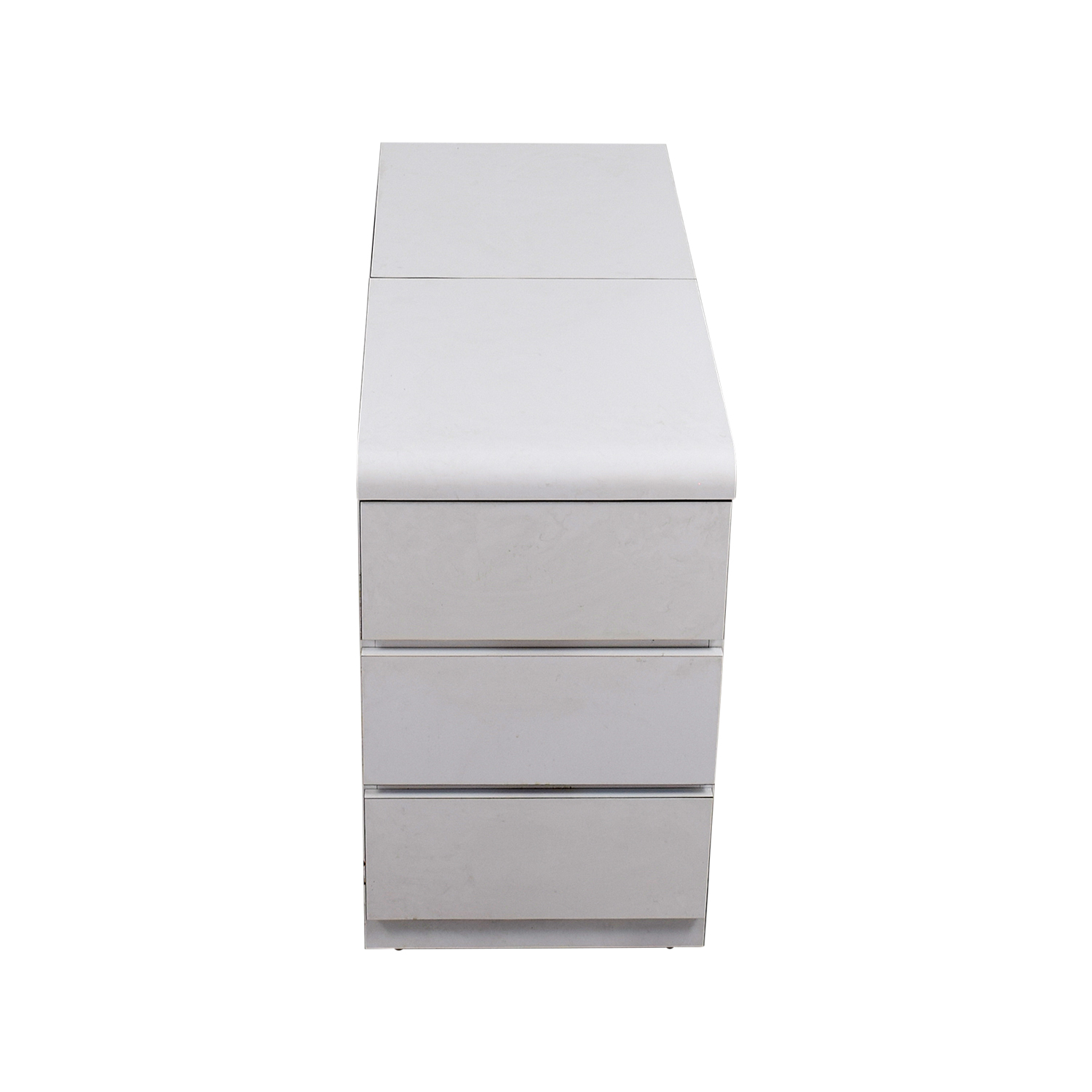 buy White Three-Drawer Dresser with Storage Dressers
