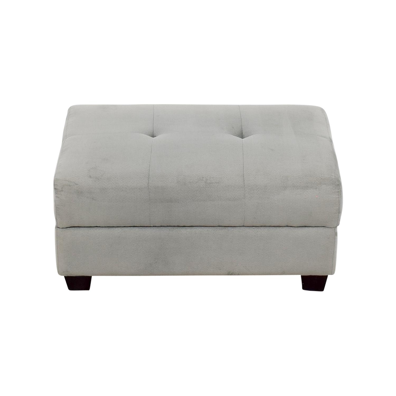 IKEA IKEA Grey Tufted Ottoman price