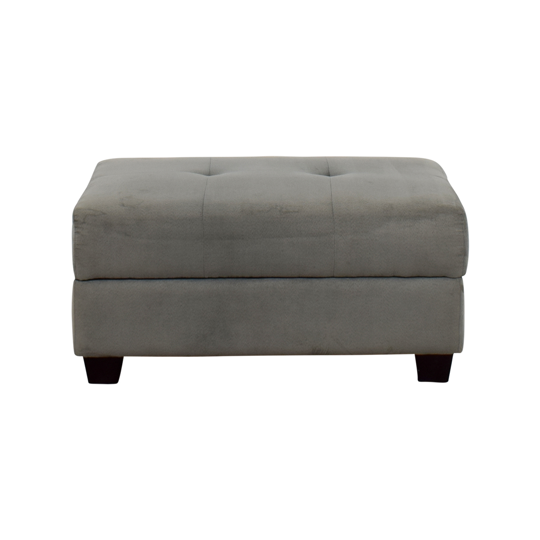 buy IKEA Grey Tufted Ottoman IKEA