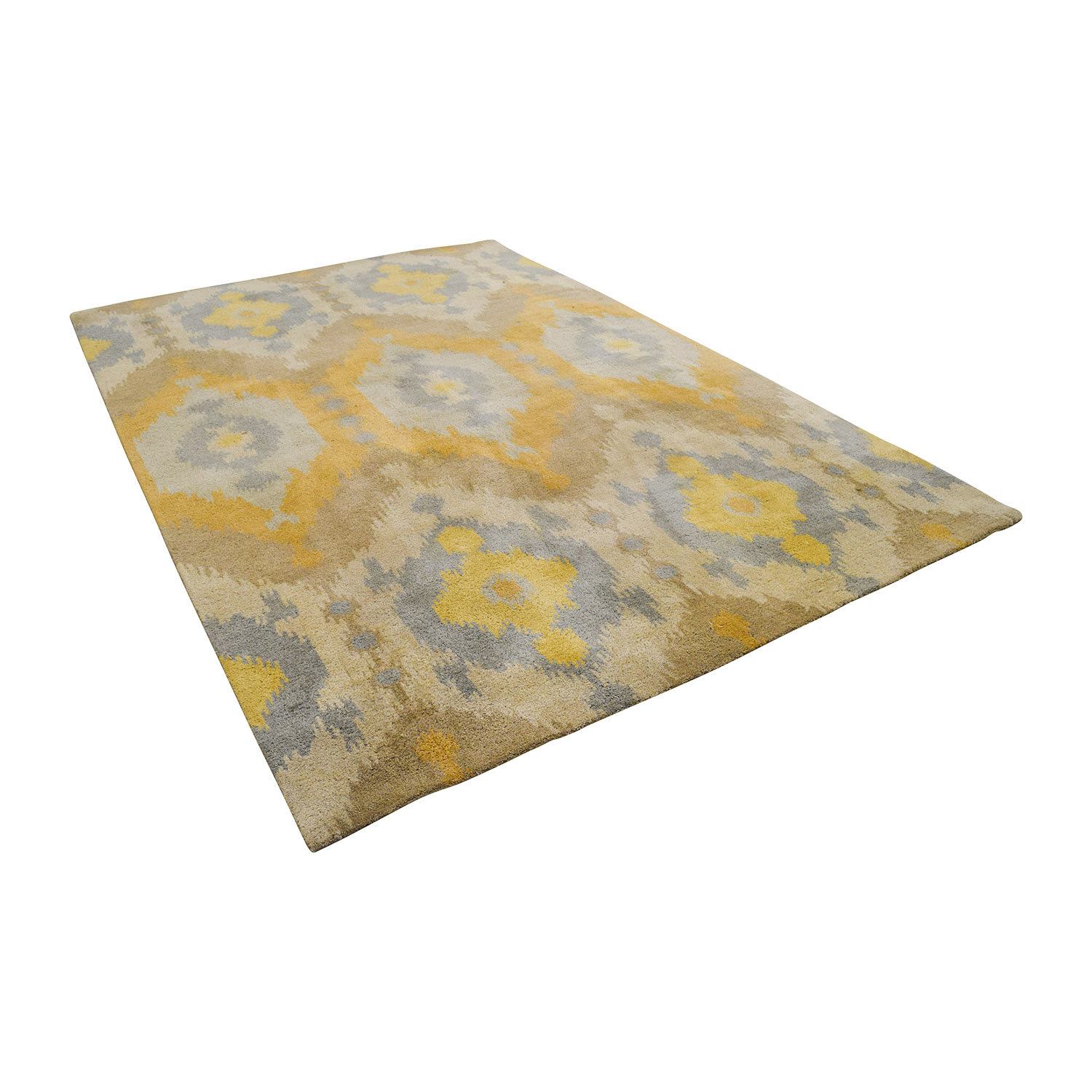 Yellow Beige and Grey Rug coupon
