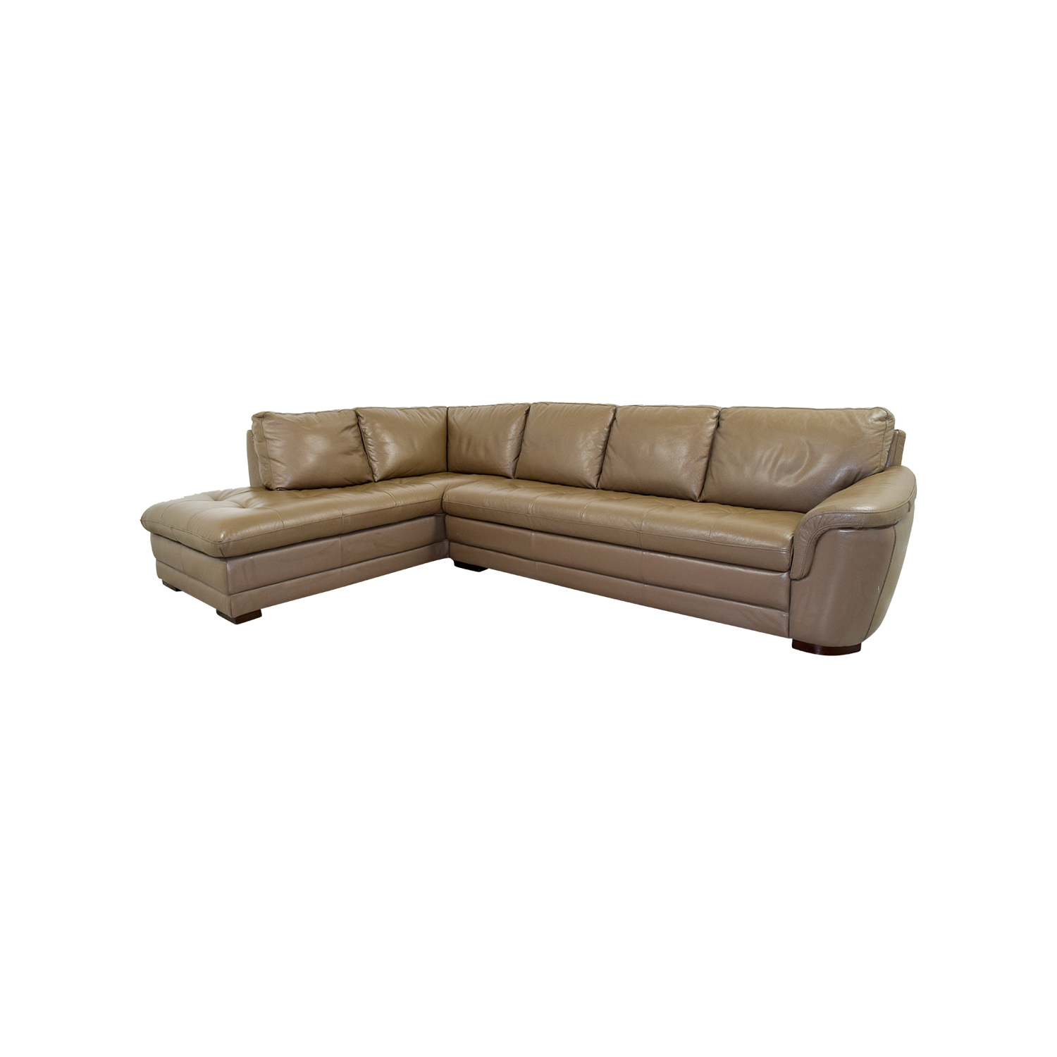Raymour & Flanigan Raymour & Flanigan Garrison Tufted Leather Sectional coupon