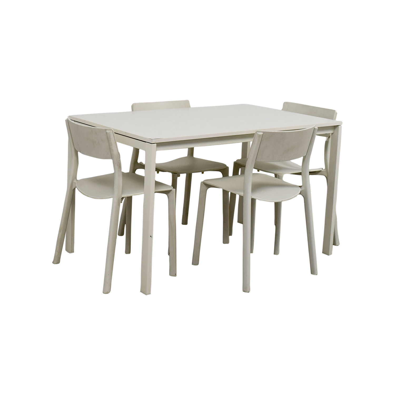 65 off ikea ikea white kitchen table and chairs tables for Ikea dining table and chairs set