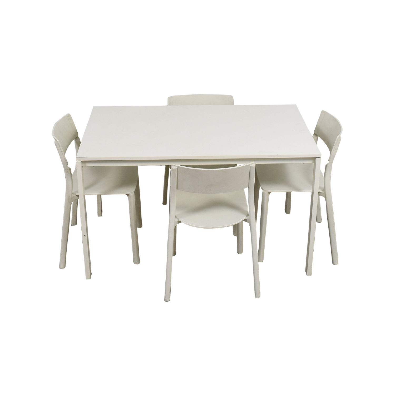 65 OFF   IKEA IKEA White Kitchen Table and Chairs / Tables