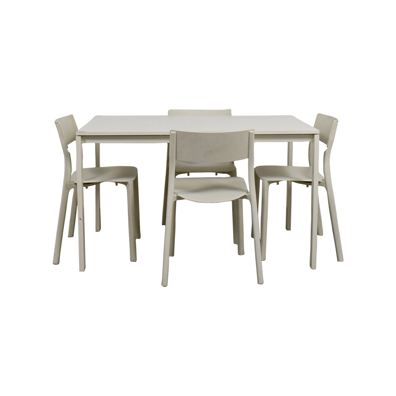 IKEA IKEA White Kitchen Table and Chairs on sale
