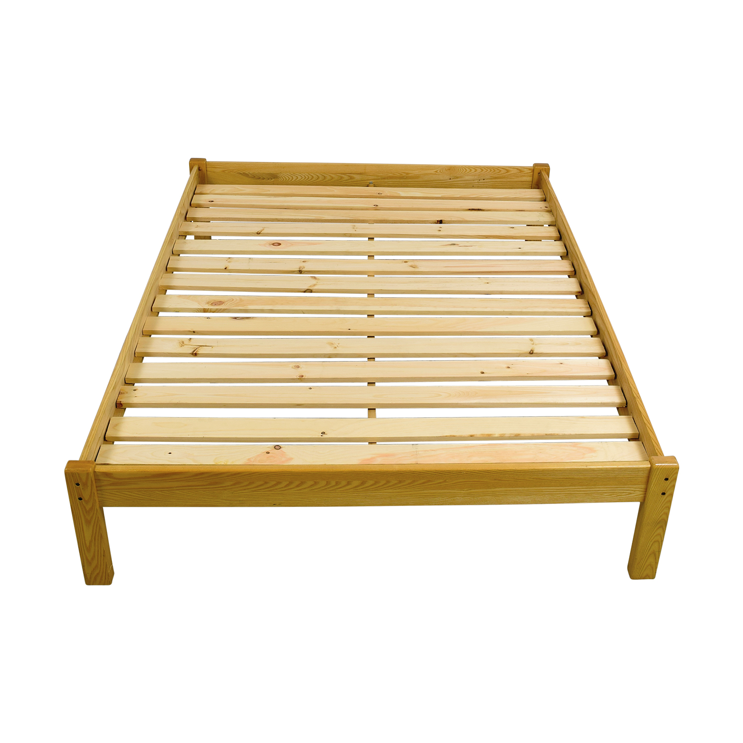 Garnet Hill Queen Natural Wood Platform Bed Frame Garnet Hill