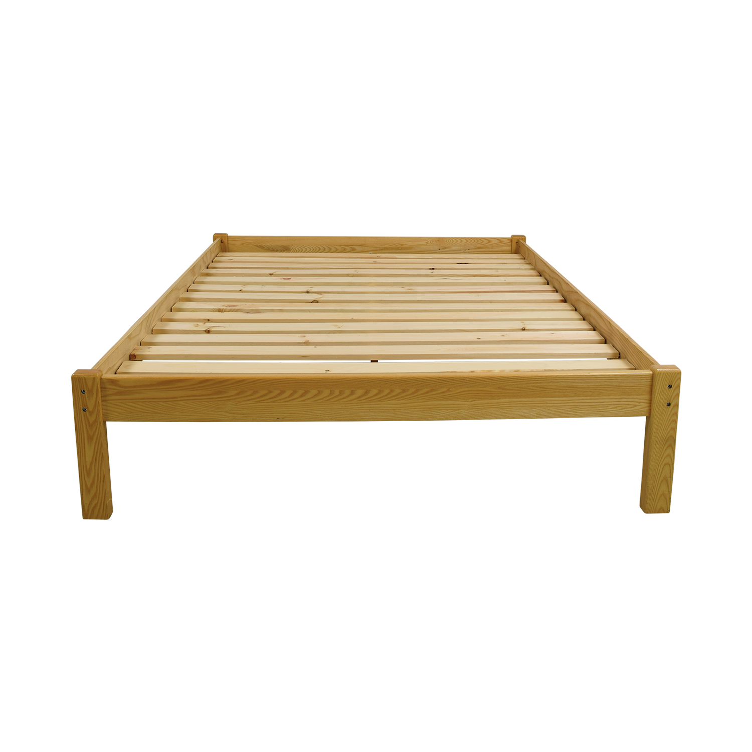 Garnet Hill Garnet Hill Queen Natural Wood Platform Bed Frame used